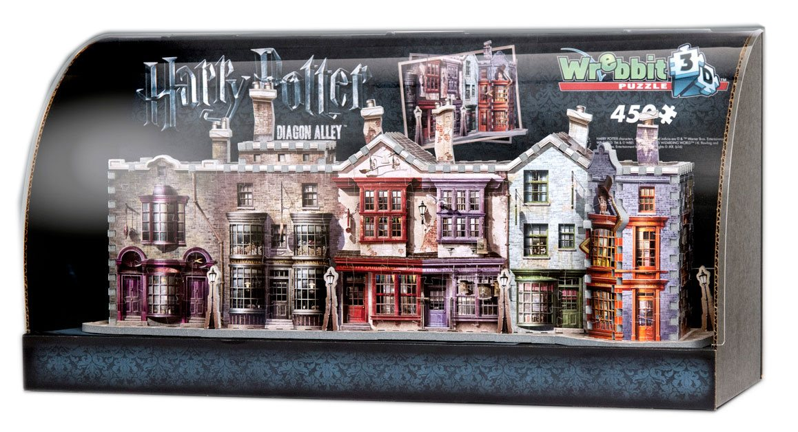 Harry Potter Built-Up Demo 3D Puzzle in Display Case Diagon Alley