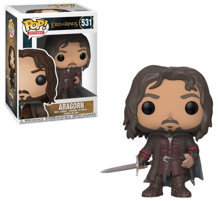 Pop! Movies: Lord of the Rings - Aragorn Vinyl Figure 10 cm