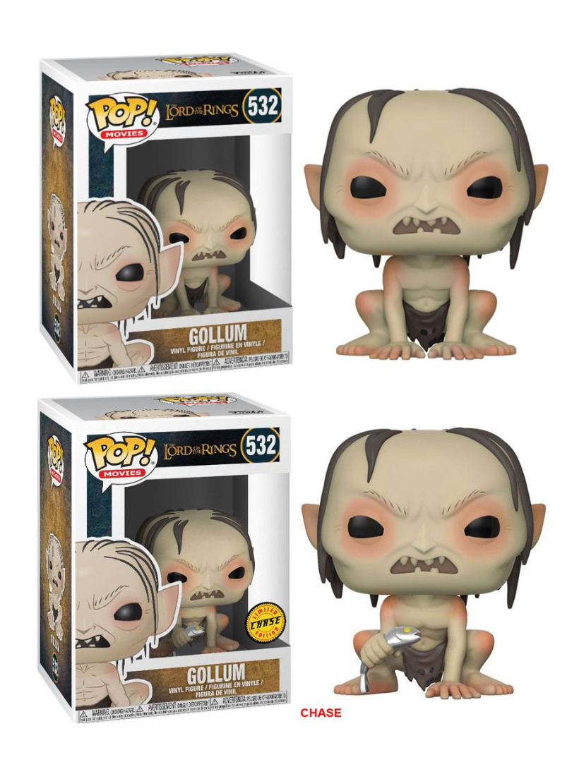 Pop! Movies: Lord of the Rings - Gollum + Chase Vinyl Figure 10 cm