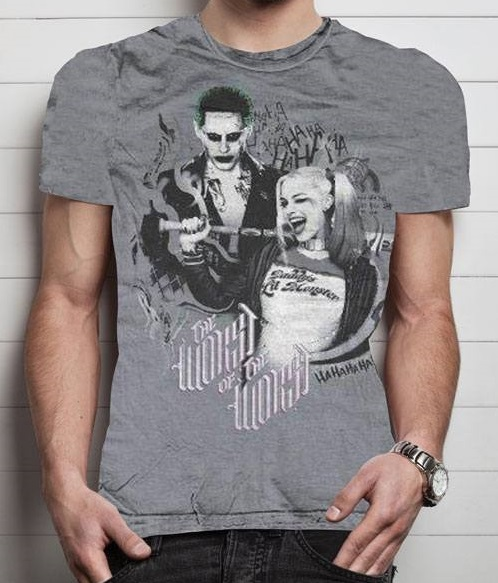 T-Shirt Suicide Squad The Worst Of the Worst Tamanho S