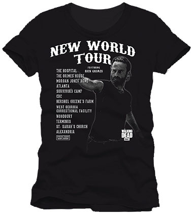 T-Shirt Walking Dead New World Tour Tamanho S