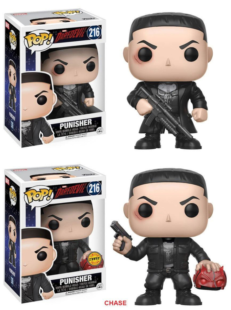 Pop! TV: Marvel - Daredevil: Punisher + Chase Vinyl Figure 10 cm