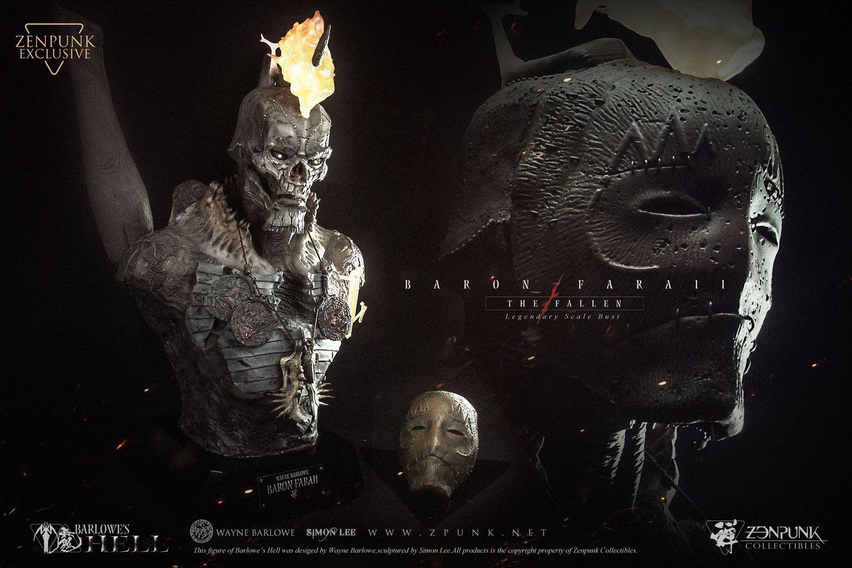 Barlowe's Hell Legendary Scale Bust 1/2 Barin Faraii The Fallen Zenpunk Exc