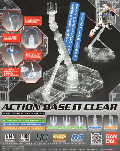 Action Base Transparente/Clear (1/144 Scale)