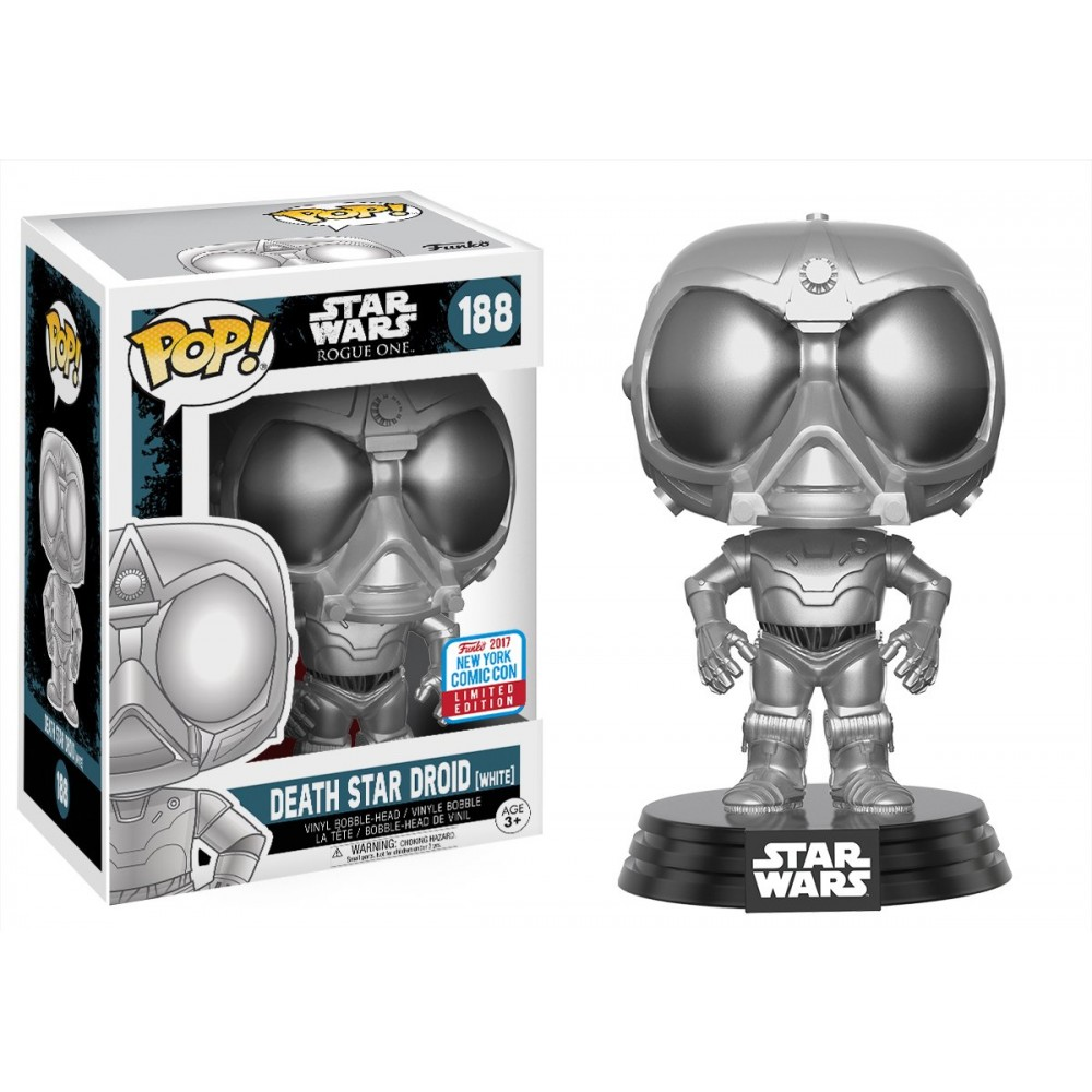 Pop! Star Wars: Rogue One - Chrome Death Star Droid NYCC 2017 Limited. Ed.