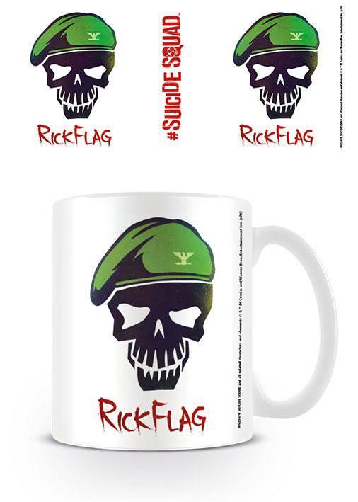 Caneca Suicide Squad Rick Flag Skull