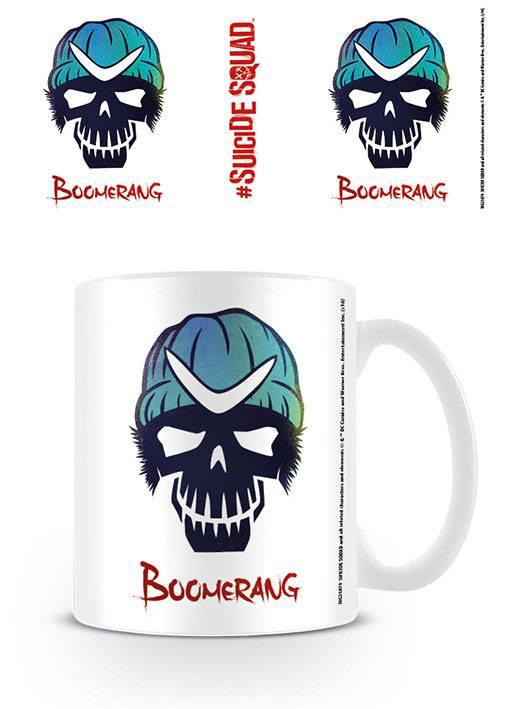 Caneca Suicide Squad Boomerang Skull