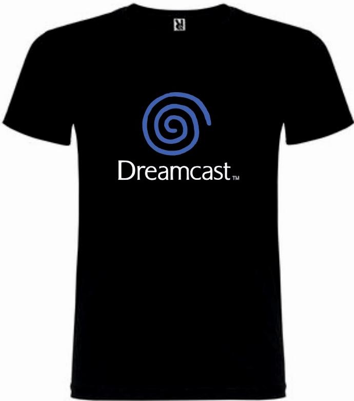 T-Shirt Sega Dreamcast Logo Tamanho L