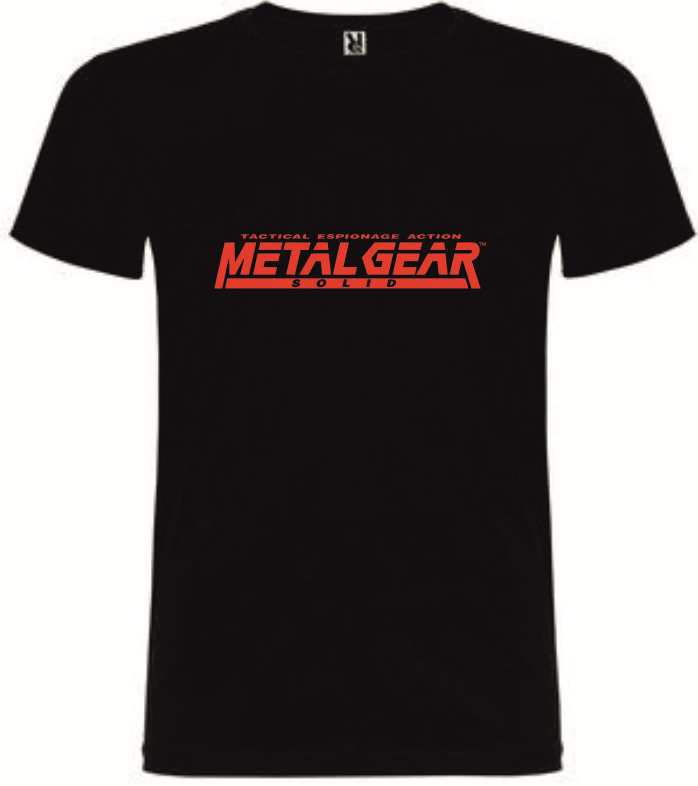 T-Shirt Metal Gear Solid Tactical Espionage Action Tamanho L