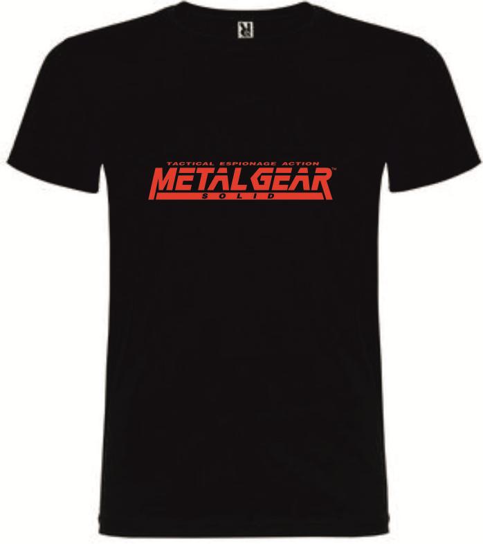 T-Shirt Metal Gear Solid Tactical Espionage Action Tamanho L
