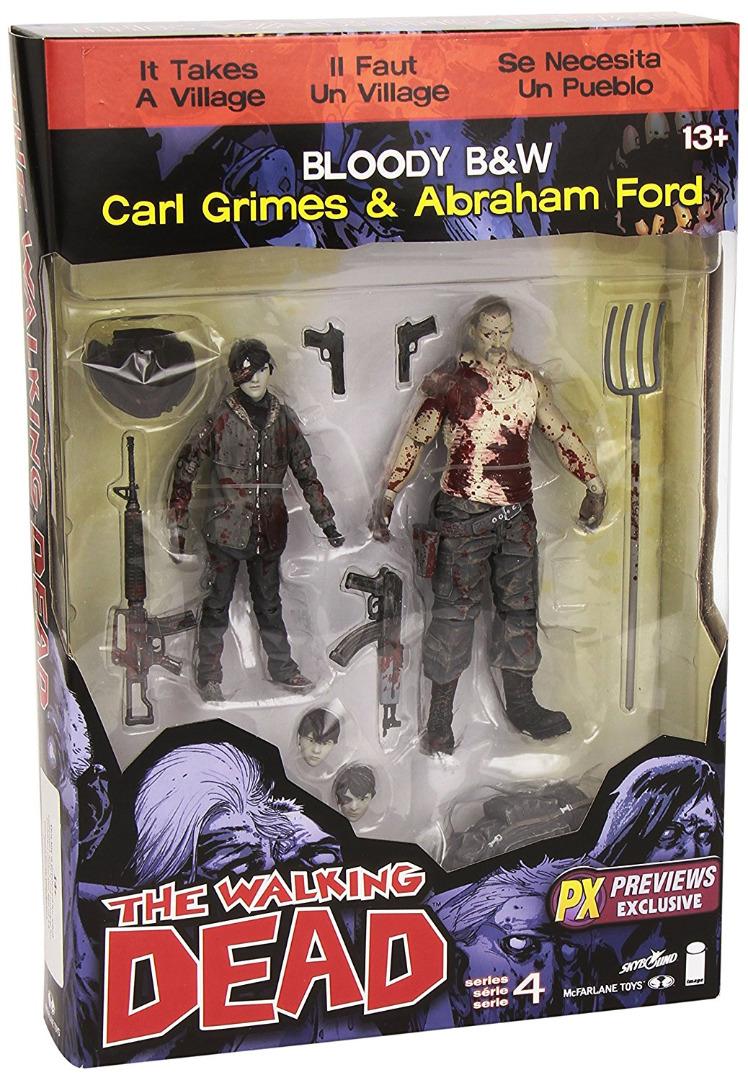 Walking Dead Serie 4 Action Figure Pack Carl Grimes & Abraham 15 cm