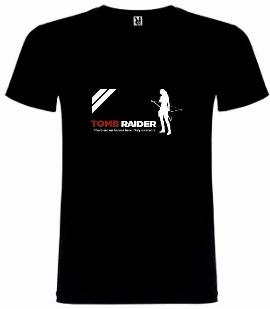 T-Shirt Tomb Raider Lara Croft Survivor Tamanho M
