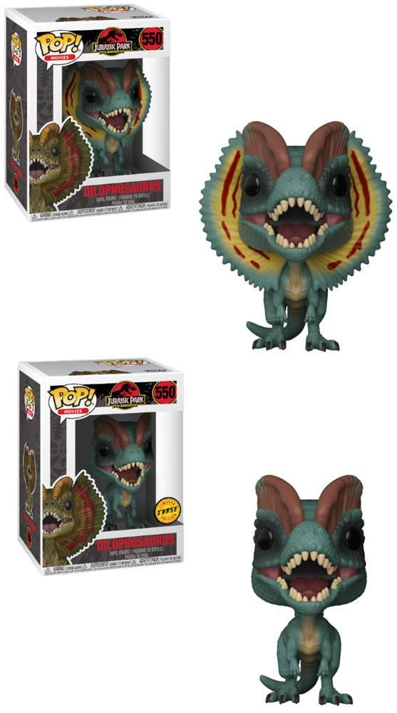 Pop! Movies: Jurassic Park - Dilophosaurus + Chase Vinyl Figure 10 cm