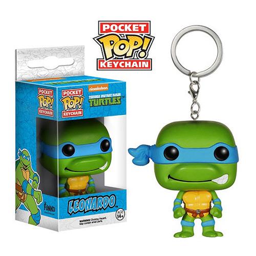Pop! Cartoons: Pocket Pop! Keychain Teenage Mutant Ninja Turtles Leonardo