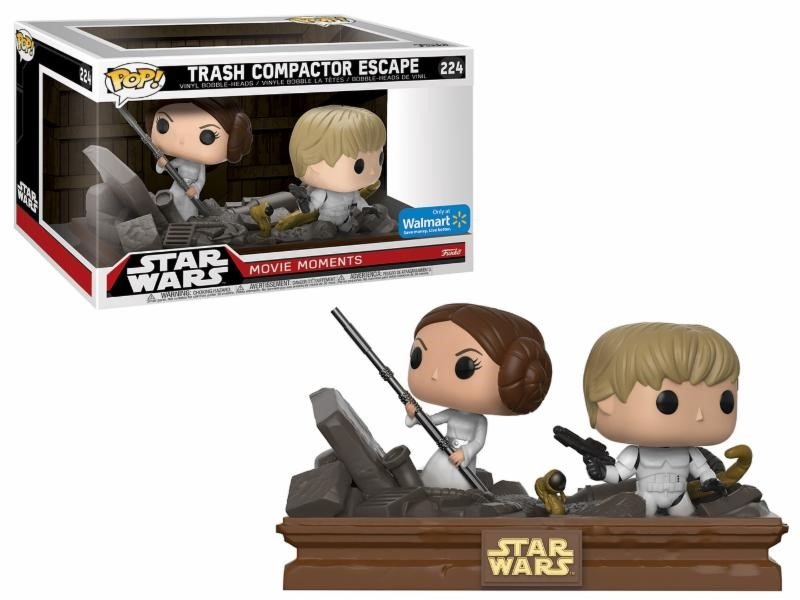 Pop! Star Wars: Movie Moments Trash Compactor Luke and Leia Limited Edition