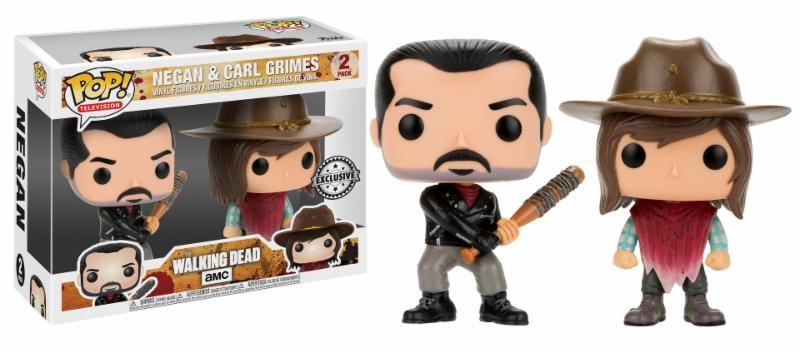 Pop! TV: The Walking Dead - Negan and Carl 2-Pack Limited Edition 10 cm