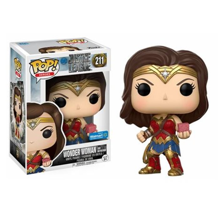Justice League Movie POP! Movies Wonder Woman with Mother Box
