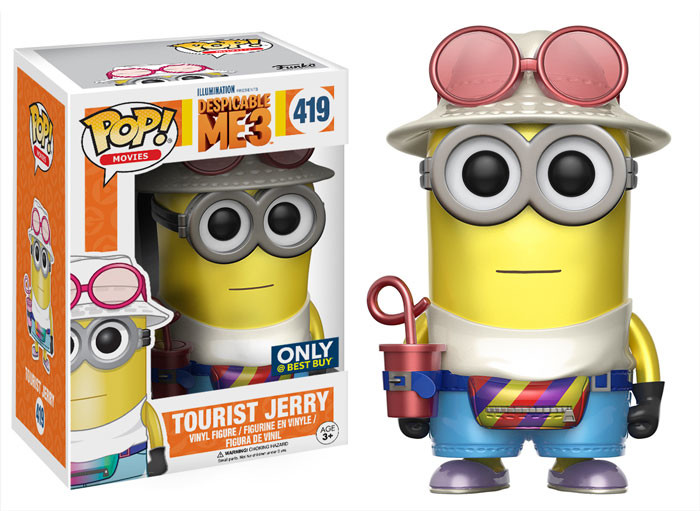 Despicable Me 3 POP! Movies Tourist Jerry Metallic Exclusive Edition 10 cm