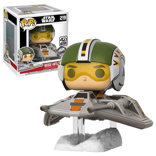 Star Wars Episode VII POP! Vinyl  Wedge Antilles with Snow Speeder 15 cm