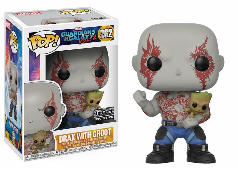 Pop! Marvel: Guardians of the Galaxy 2 Drax with Groot Bobblehead Exc.