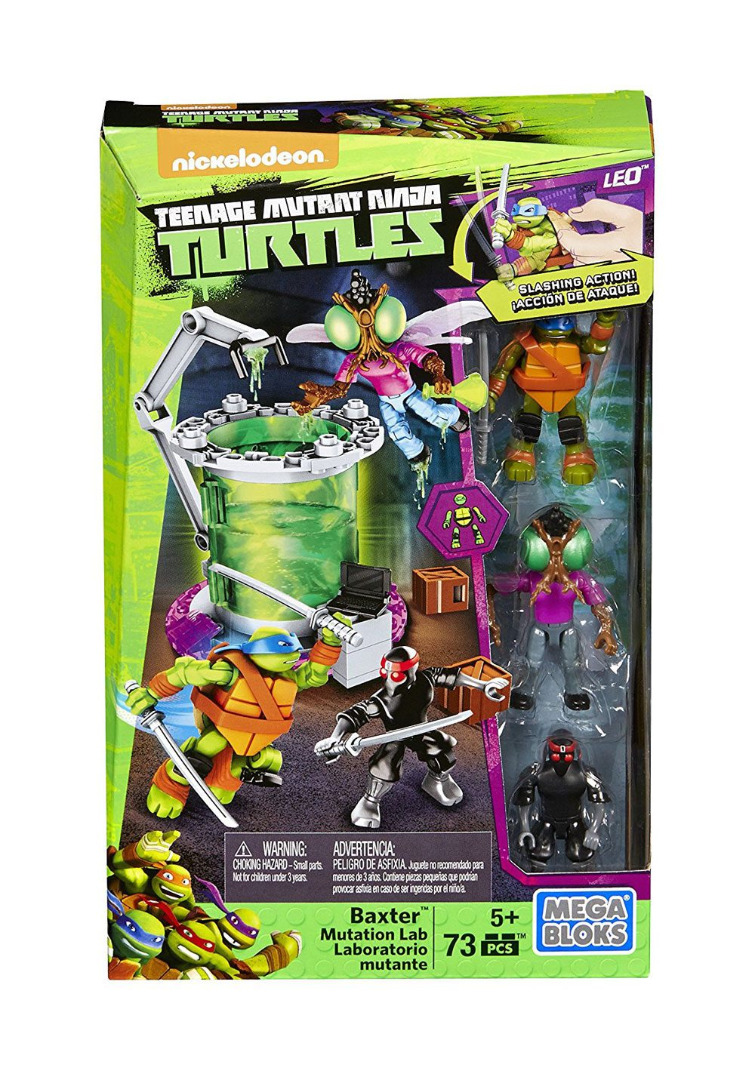 Teenage Mutant Ninja Turtles MegaBloks Construction Set Baxter Mutation Lab