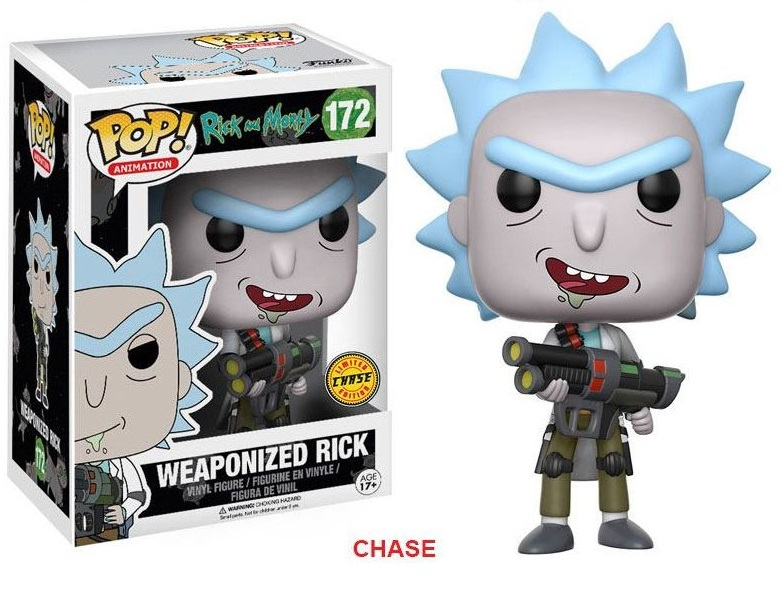 Pop! Cartoons: Rick and Morty - Weaponized Rick Chase Vinyl Figure 10 cm