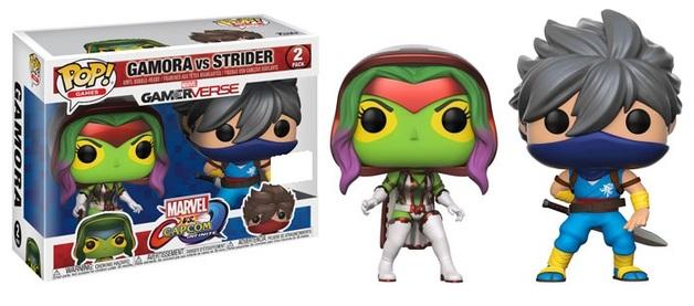 Pop! Marvel VS Capcom: Gamora VS Strider Exclusive Ediiton 10 cm