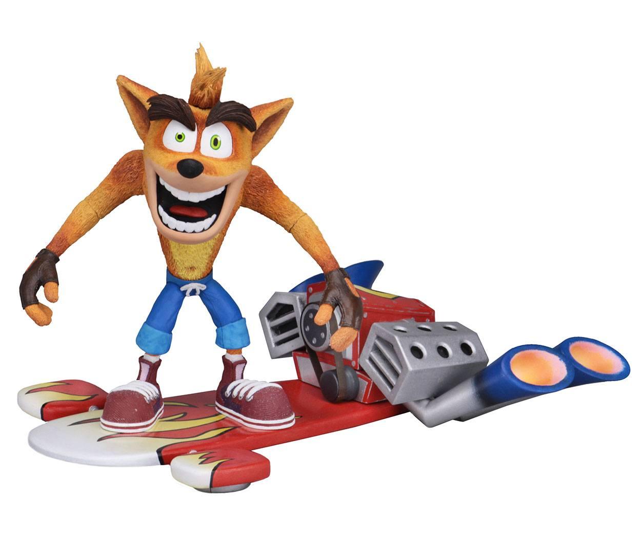 Crash Bandicoot Action Figure Deluxe Hoverboard Crash Bandicoot 14 cm