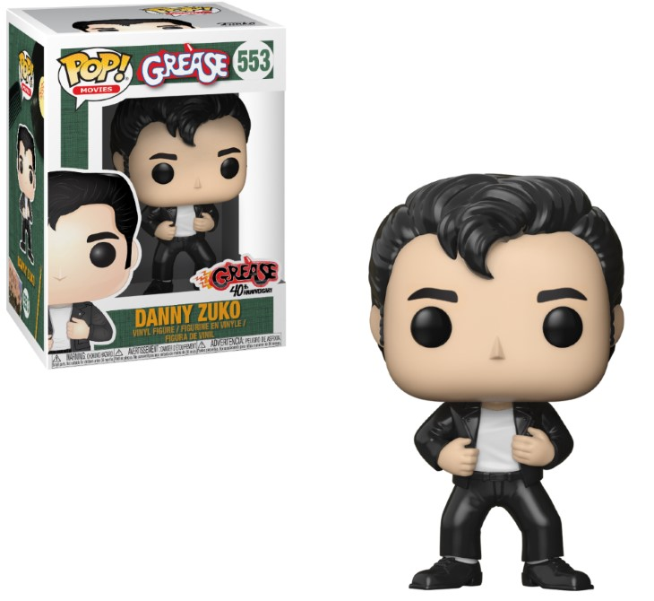 Pop! Movies: Grease - Danny Zuko Vinyl Figure 10 cm