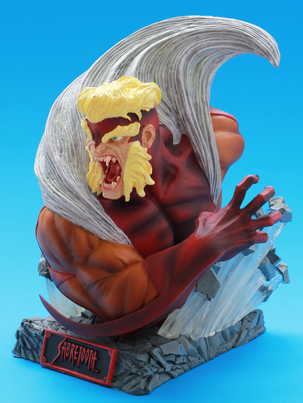 Sabretooth Marvel Comics Art Asylum Bust Statue Rogue Gallery Lim. Edition