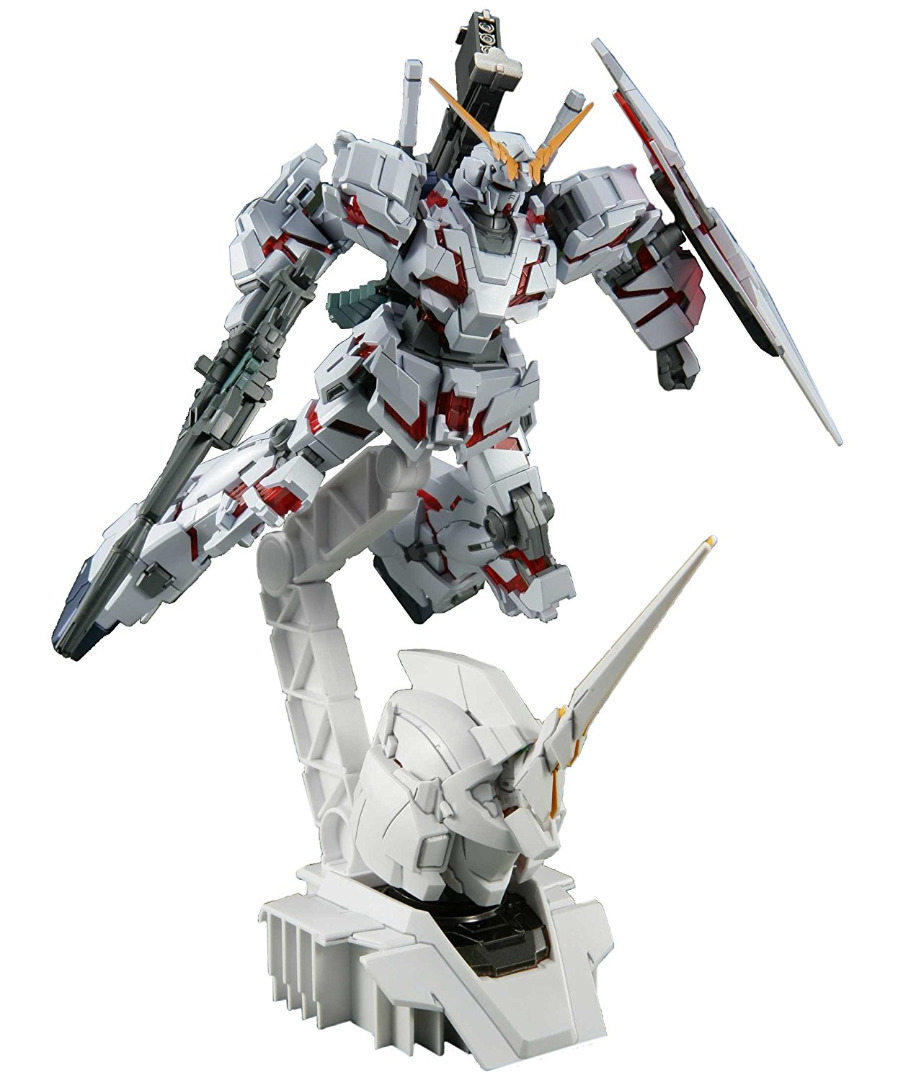 High Grade Gundam  RX-0 Unicorn Gundam (Destroy Mode) + Head Display Base