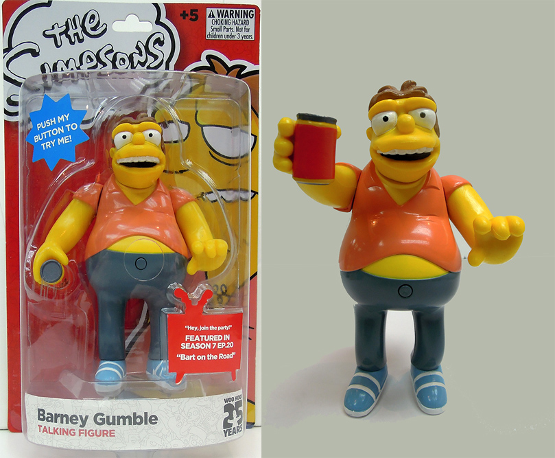 The Simpsons Barney Simpsons Figure with Sound 15 cm
