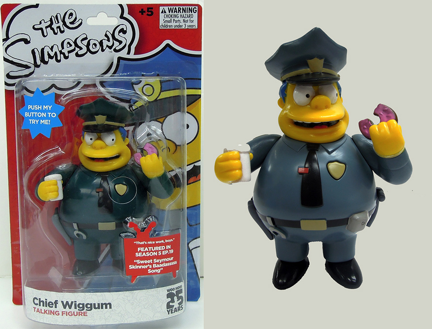 The Simpsons Chief Wiggam Simpsons Figure with Sound 15 cm