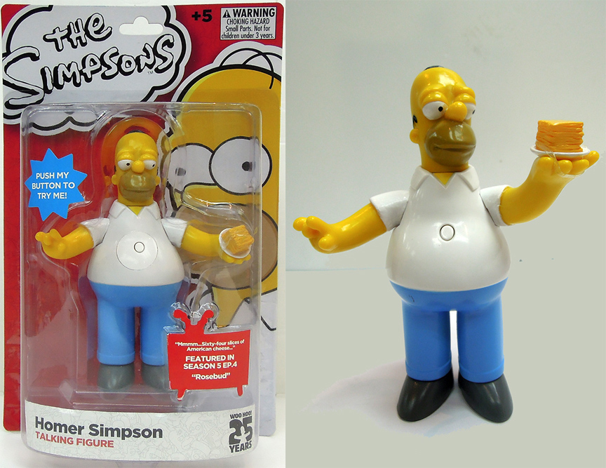 The Simpsons Homer Simpsons Figure with Sound 15 cm