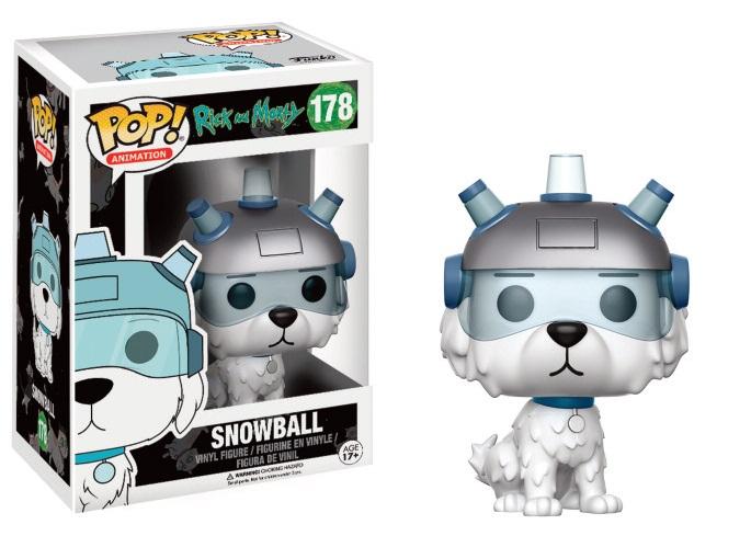 Pop! Cartoons: Rick and Morty - Snowball Vinyl Figure 10 cm