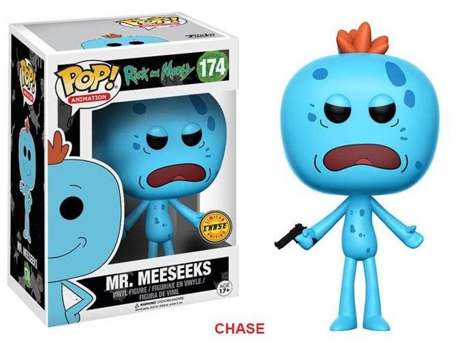 Pop! Cartoons: Rick and Morty - Mr. Meeseeks Chase Vinyl Figure 10 cm