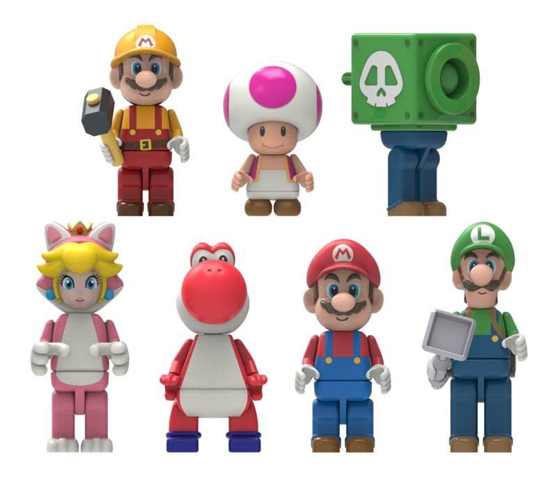 Pack 5 Figuras Super Mario Buildable K'NEX Figures Mystery Bag 5 cm