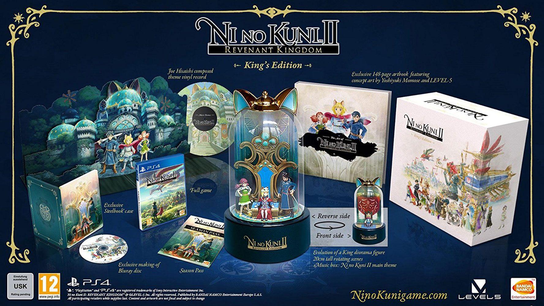 Ni No Kuni 2 Revenant Kingdom King's Edition PS4 Ver. (Sem jogo)
