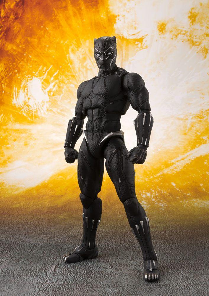 Avengers Infinity War S.H. Figuarts AF Black Panther & Tamashii Effect Rock