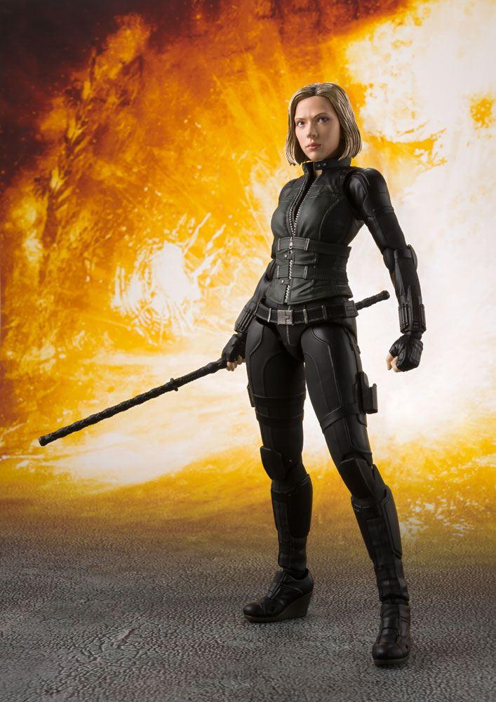 Avengers Infinity War S.H. Figuarts AF Black Widow & Tamashii Effect Expl.