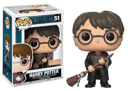 Pop! Harry Potter: Harry with Firebolt and Feather Exclusive Edition 10 cm