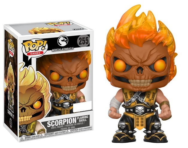 Pop! Games: Mortal Kombat - Scorpion Skull head Flaming Skull 10 cm