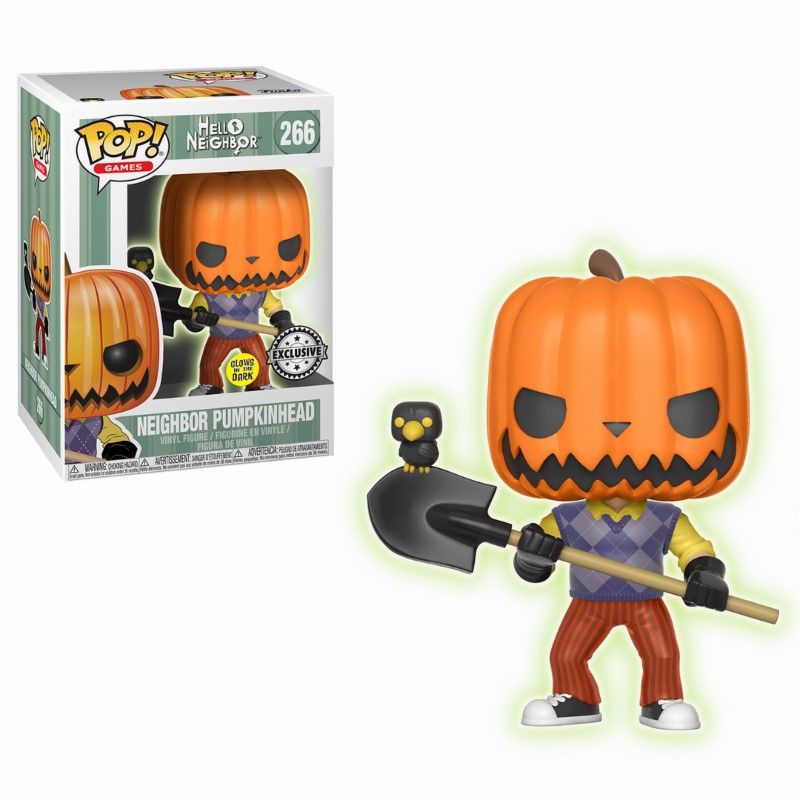 Pop! Games: Hello Neighbor - Pumpkin Head GitD Exclusive Edition 10 cm