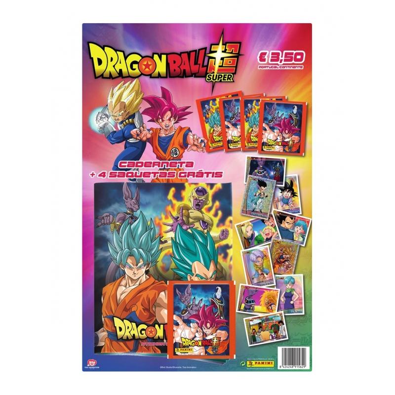 Caderneta Dragon Ball Z Super + Oferta de 4 Carteirinhas de Cromos