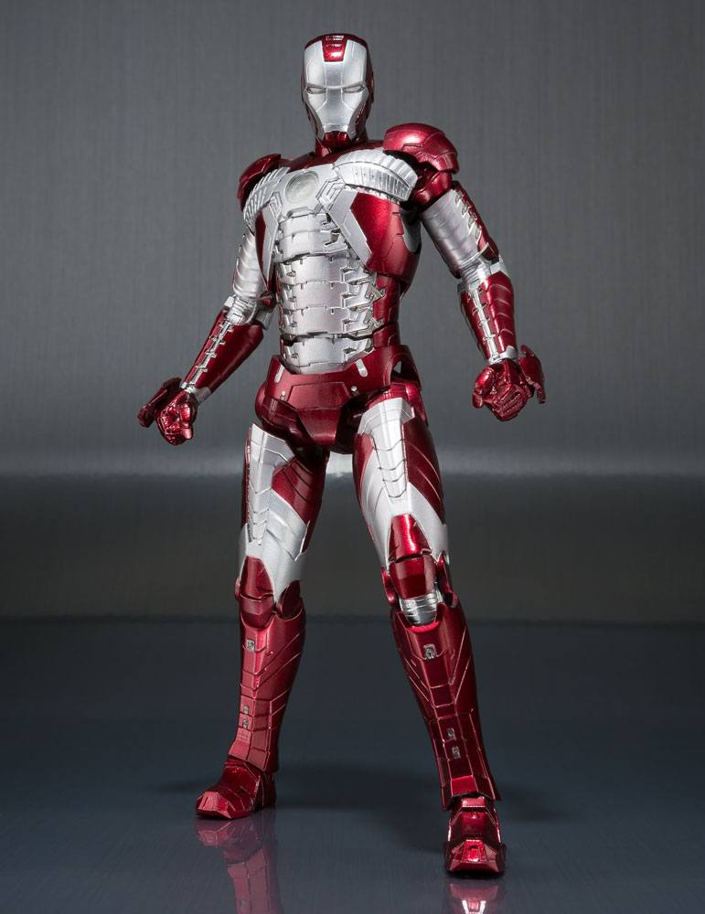 Iron Man 2 S.H. Figuarts Action Figure Iron Man Mark V & Hall of Armor Set