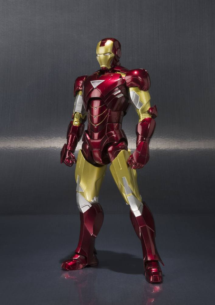 Iron Man S.H. Figuarts Action Figure Iron Man Mark VI & Hall of Armor Set