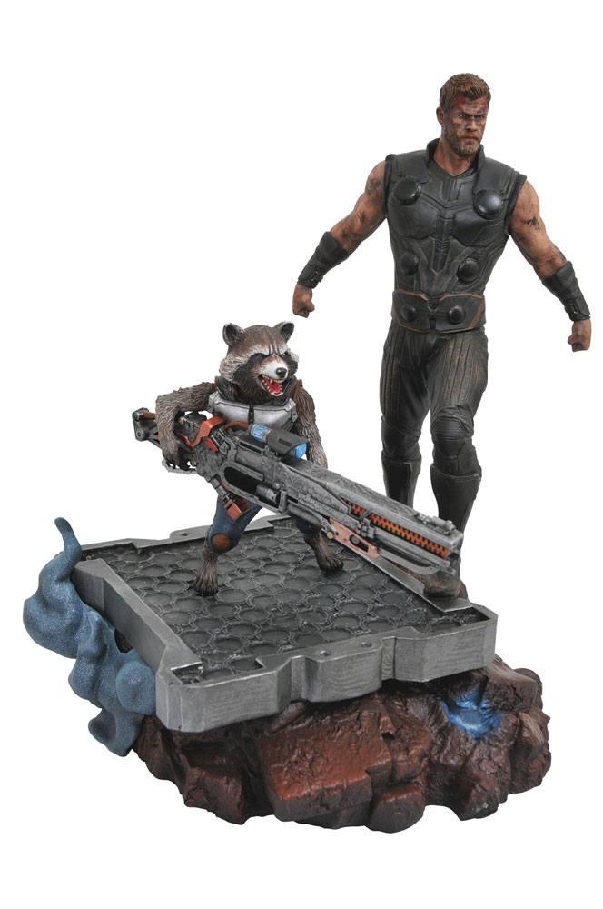 Avengers Infinity War Marvel Premier Collection Thor & Rocket Raccoon 30 cm
