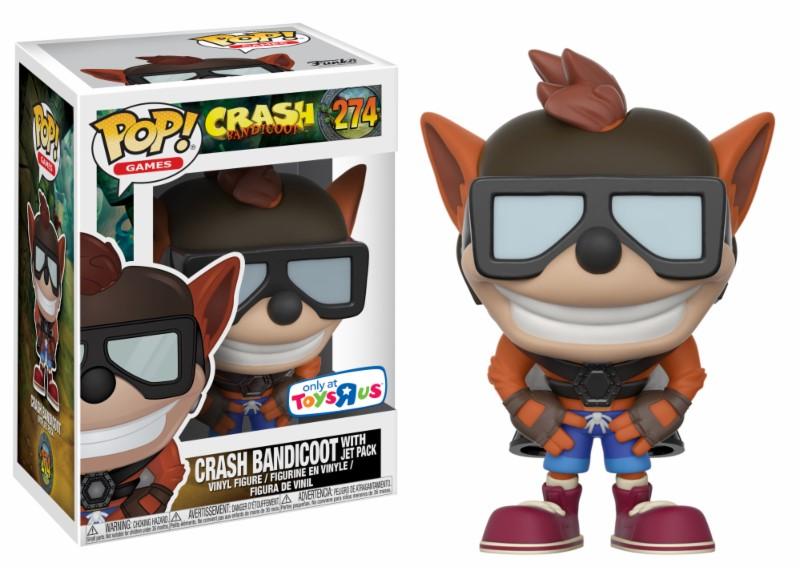 Pop! Games: Crash Bandicoot with Jet Pack Exclusive Edition Vinyl Figure
