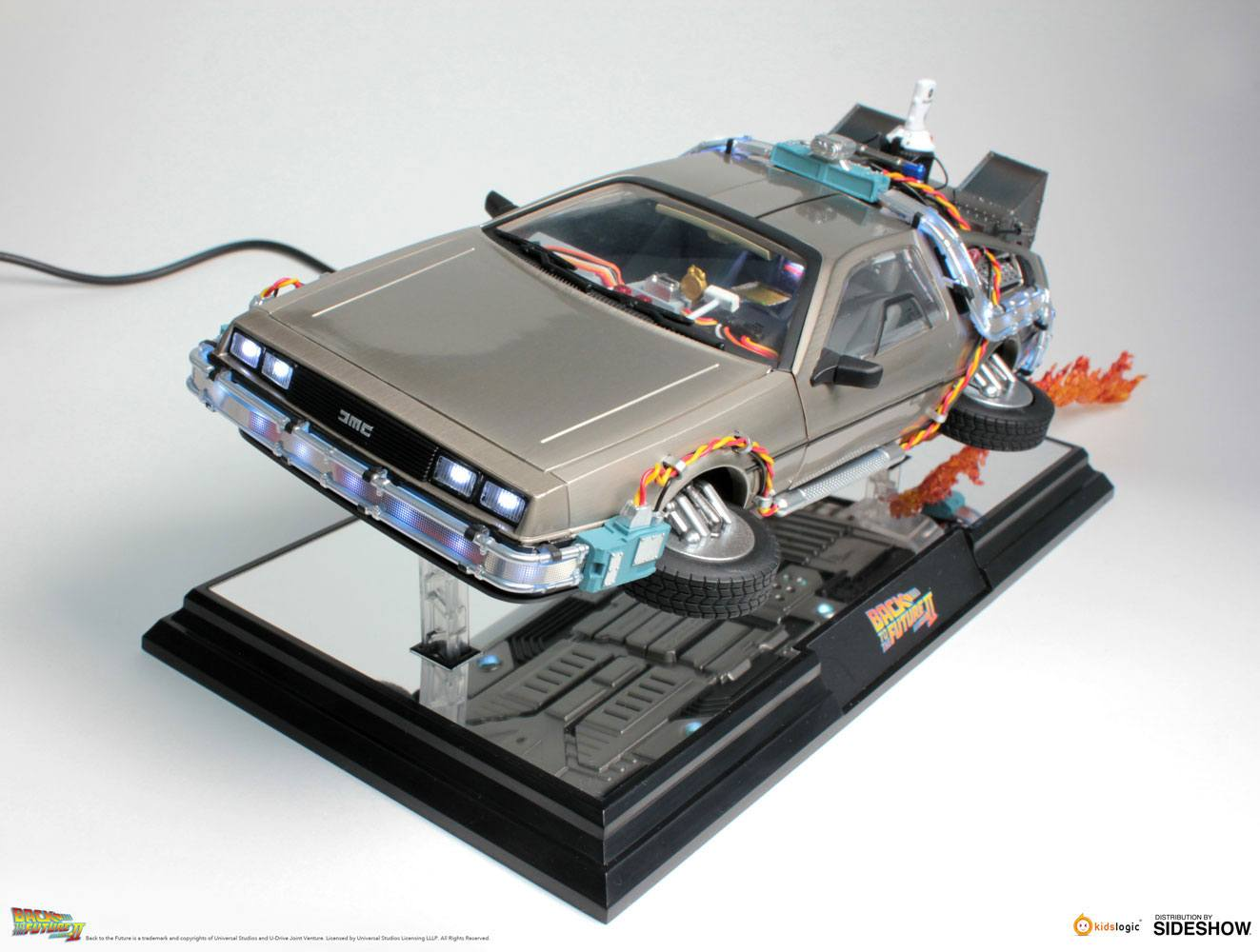 Back to the Future II Floating Model LightUp Function DeLorean Time Machine