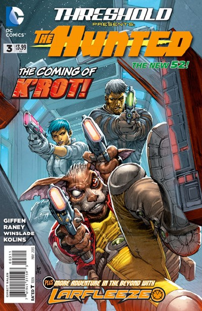 DC Comics- The New 52! Threshold The Hunted #3  (oferta capa protetora)